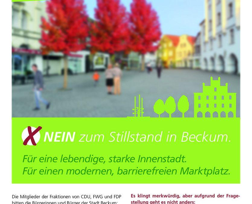 """Bürgerentscheid """"Rettet den Marktplatz"""" am Sonntag, 8. Juli 2018, von 8 bis 18 Uhr"""