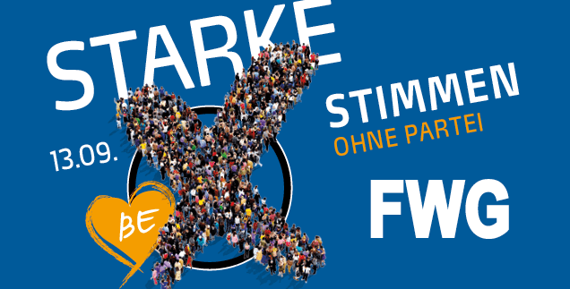 Am 13. September FWG Wählen!