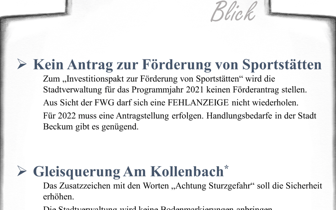 Newsletter FWG Beckum