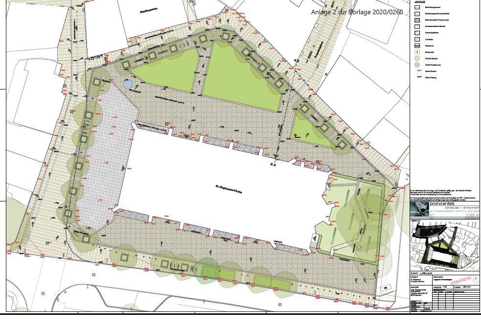 Kirchplatz-Umbau erfolgt wie geplant