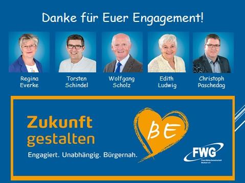 FWG ehrt verdiente und langjährig aktive Mitglieder